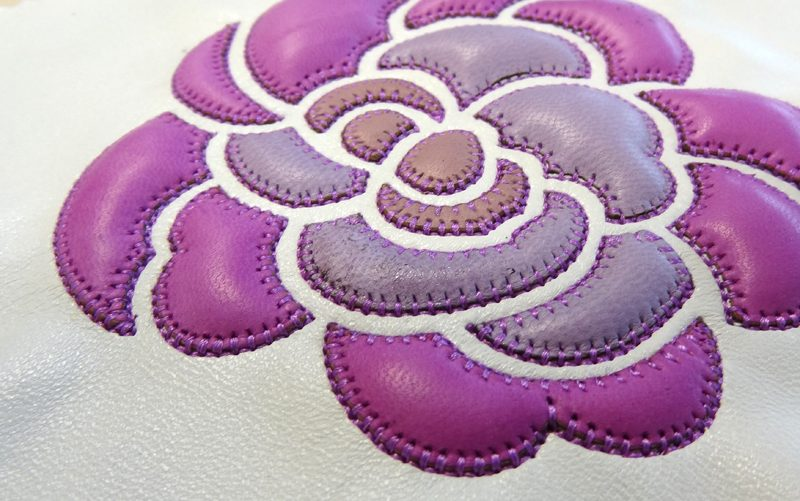 Fil'ing broderie patchwork cuir application matelassé