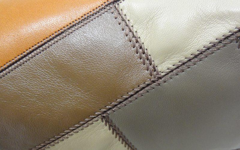 Fil'ing broderie patchwork cuir