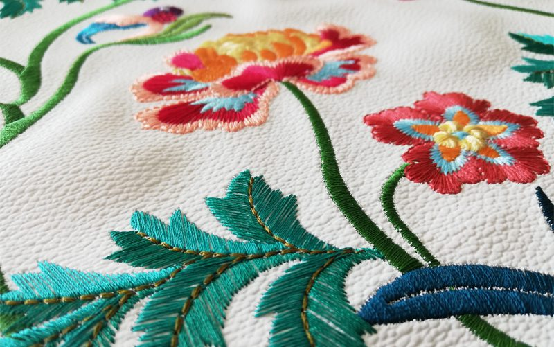 Fil'ing broderie classique traditionnelle toile enduite